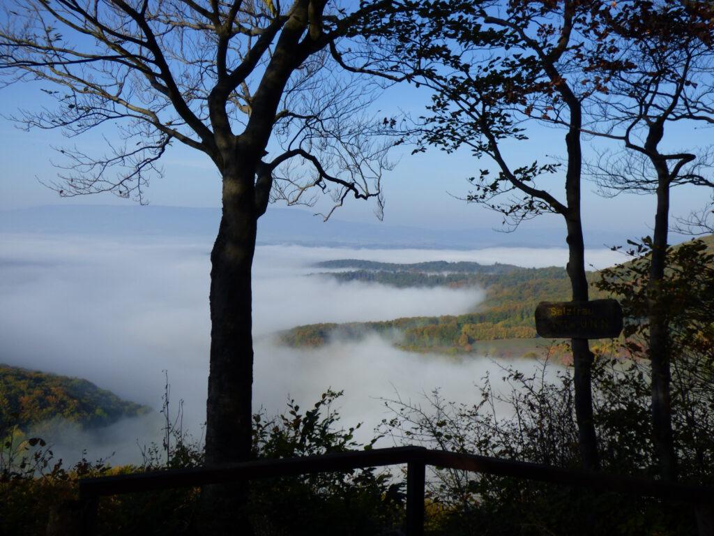 Werratal im Nebel mit Meißner